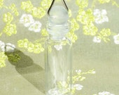 Bottle Locket - Glass Perfume Potion Vial Charm Pendant - Short