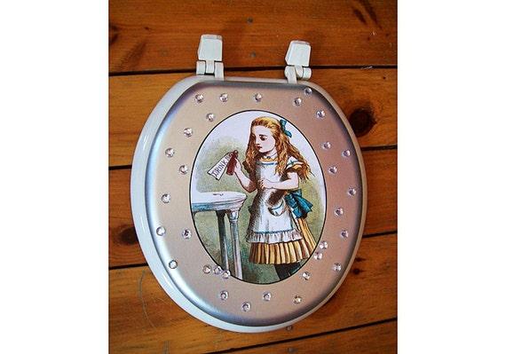 Alice in Wonderland toilet seat retro vintage Victorian. Alice In Wonderland Bathroom Accessories