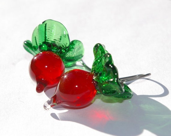 radish earrings s radish earrings lwork glass radish by 3379