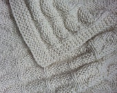 Oatmeal Hand-Knit Baby/Toddler Blanket