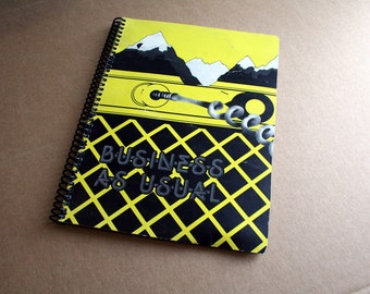 Men at Work- Business as Usual - Record Album Blank Notebook- Upcycled Journal, Sketch book