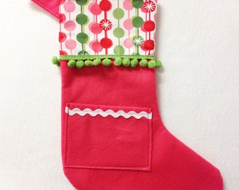 Christmas Stocking - Pick Your Own Pocket Peeper - Sugar Drop
