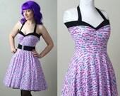 car print Yvonne retro rockabilly swing dress custom - smarmyclothes