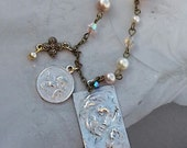 Reserve For Susan/Mother And Child Gypsy Style Charm Necklace