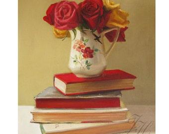 Realism Still Life Painting- The Ruffled Edges- Art Print
