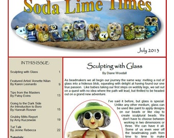July 2013 Soda Lime Times Lampworking Magazine - Sculptural issue - (PDF) - by Diane Woodall