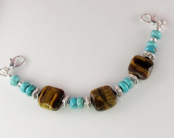 Gemstone Medical Bracelet attachment only COASTAL DREAM for Your ID Tag replacement bracelet