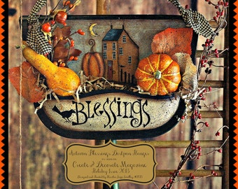 "E Pattern - Martha Smalley's Apple Tree Cottage Designs -""Harvest Blessings Dustpan Hanger"""