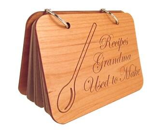 Wooden Recipe Book - Recipes Grandma Used to Make