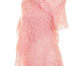 Intricate Beaded Lace Shawl Knitting Pattern