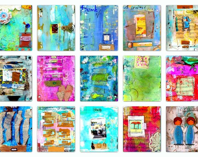 Digital Journal, Handmade, Recycled, Tactile, Mixed Media, Binder