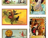 Spooky Halloween Vintage Images Digital Collage Sheet GreatMusings No.124