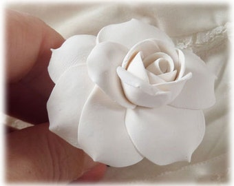 Gardenia Hair Clip Pin - Gardenia Hair Flower, Gardenia Bridal Hair Accessories