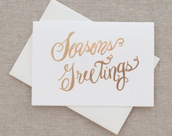 Season's Greetings Holiday Greeting Cards - Set of 8
