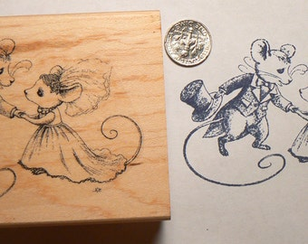 P26 large The proposal wedding mice by Natalia rubber stamp WM