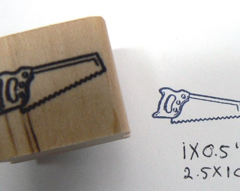 P99 Saw rubber stamp miniature