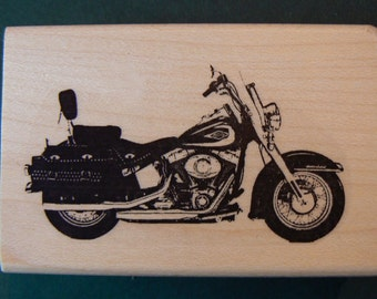 Harley motorcycle rubber stamp WM P9