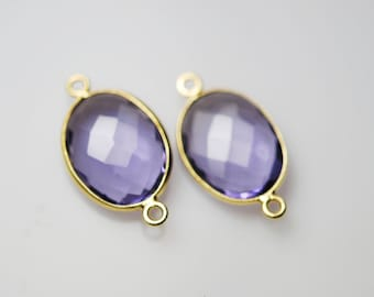 2 Amethyst oval connector 20.00 ON SALE 18.00