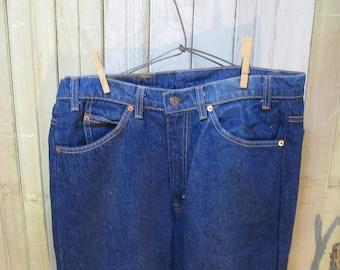 Flared Levis Jeans Vintage 517 Levis Boot cut 80s Flare Vintage denim jeans cotton  US made Levis Boyfriend Levis Jeans 34 34
