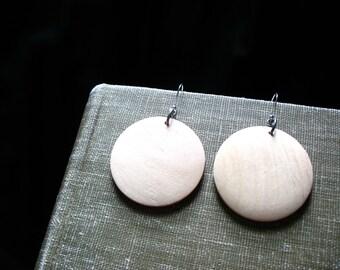Wood Earrings, Blond Maple Wood Dangle Drop Chandelier Earrings, Wood Jewelry, Handmade Wood Earrings