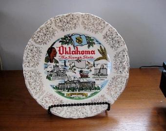 Vintage State Plate - Oklahoma