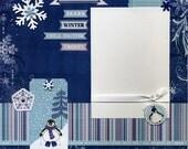 Snow Kissed - Premade Winter Scrapbook Page