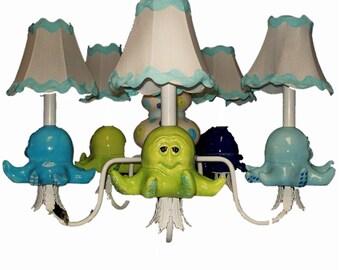 Nursery Chandelier - Under The Sea Decor -Childrens Lighting