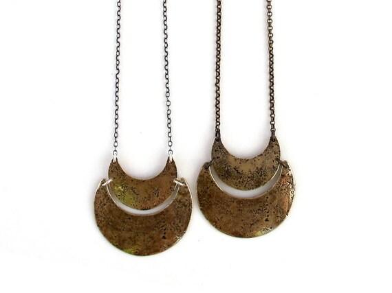 Double crescent necklace