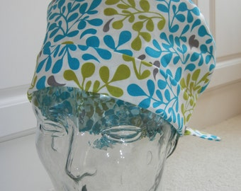 Tie Back Surgical Scrub Hat in Turning Over a New Leaf