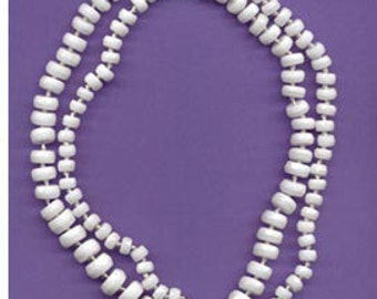 Sale Vintage Opaque White Faceted Rondel Beads Czechoslovakian
