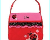 Toddler Purse, Dress Up, Handbag, Little Girl, Pocketbook, Flower Girl, Accessories, Sibling Gift,Personalized  Quilted Ladybug Purse