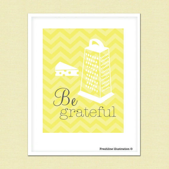 Be Grateful Kitchen Art: Kitchen Wall Art Funny Kitchen Art Quote Be By Freshline