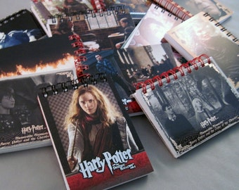 Mini Harry Potter Notebook - Recycled Trading Cards