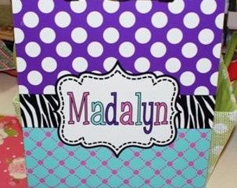 personalized clipboard, monogrammed clipboard, polka dot zebra clipboard, clipboard
