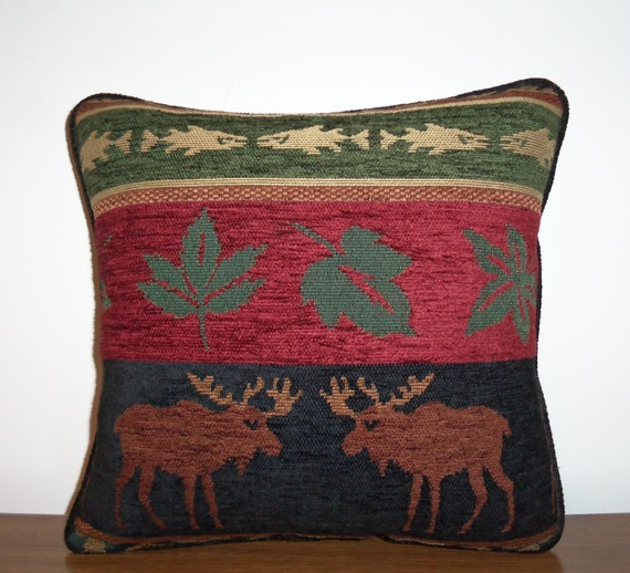 Canadian Inspired Home Decor Canada Pillow Via Etsy: Moose Chenille Tapestry Pillow Cabin Decor Lodge Look Canada