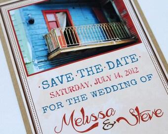Destination Wedding Save the Date - Rustic/Kraft/Vintage - La Boca, Buenos Aires, Argentina