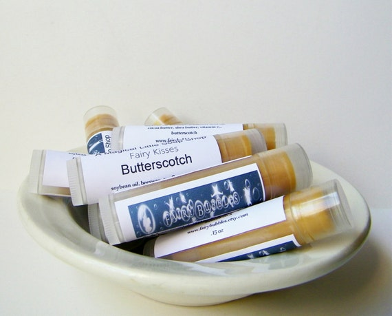 Butterscotch Lip Balm - New Fairy Kisses made with Real Butterscotch