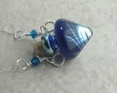 Vapor Trail --- Lampwork Poison Bottle Necklace