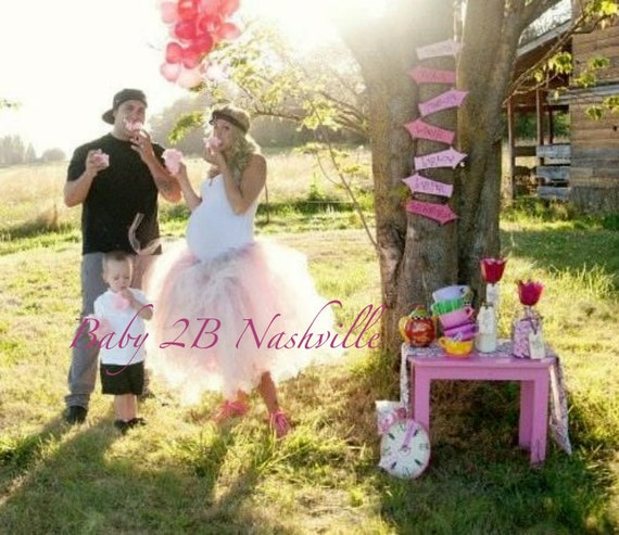 Women's Tutu Shabby Chic Pink Cocktail Length Perfect for Maternity Portraits