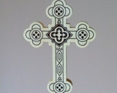 4 inch tall Antiochian Orthodox cross made from holly