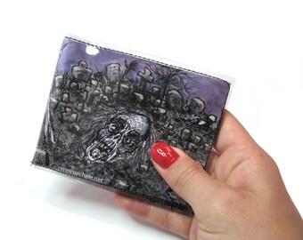 Zombie men or women's Bifold Vinyl Wallet