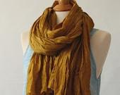 Bronze Silk wrap, scarf, stole, sarong, Nomads, No 7