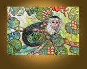 Art Painting Canvas -- Monkey and the Sea Grapes -- 20 x 30 inch Original Painting by Elizabeth Graf on Etsy, READY to HANG
