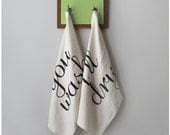 Tea(m) Towels - tea towel set of 2 - eco-friendly kitchen towels - made in the USA - wedding gift / housewarming gift - ready to ship