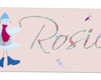 Fairies Personalized Door Sign / Personalised Fairy Wooden Name Plaque / Nursery Decor