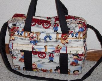 Cowboy Diaper Bag w/change pad by EMIJANE