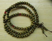 108 bead Green Sandalwood Prayer Beads- Buddhist Mala
