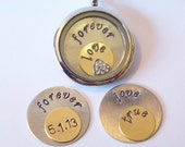 Locket Plate Sets, will fit into any LARGE size brand of floating charm locket necklaces, CHOOSE 1 set