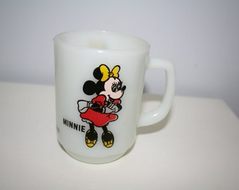 Vintage Disney Minnie Mouse Milkglass Mug - Pepsi Collectors Series