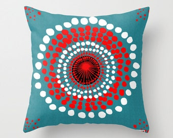 16x16 Decorative throw pillow cover - Dots pillow cover - Modern pillow cover